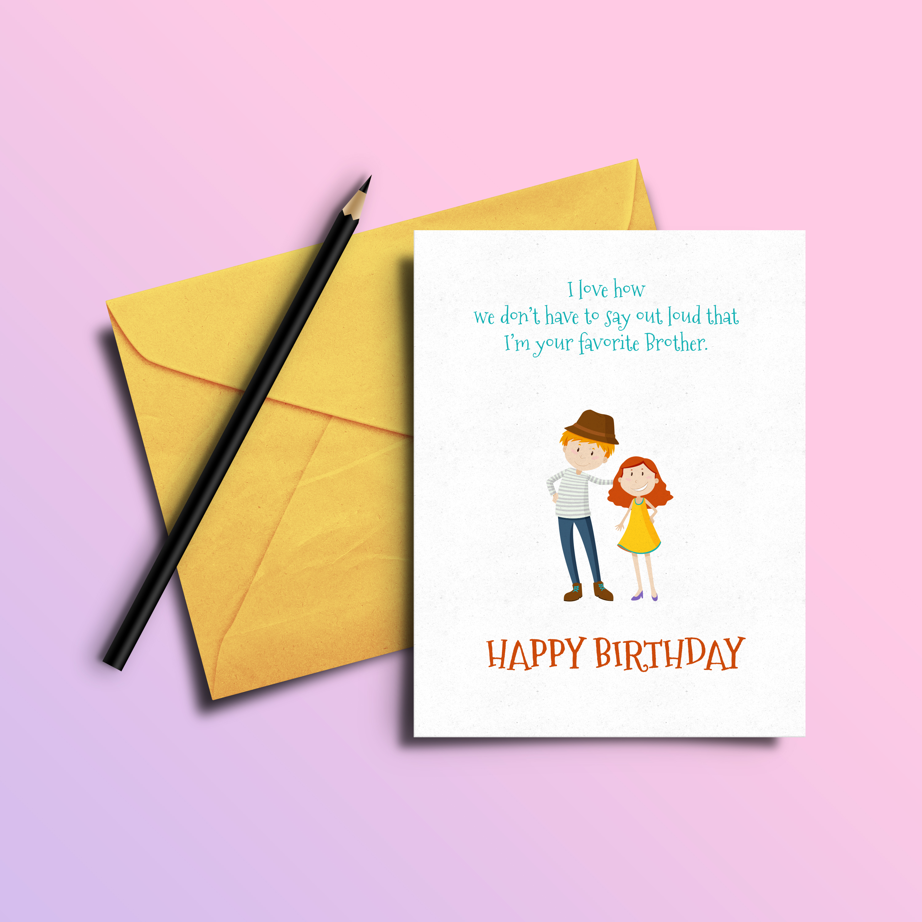Insulting Birthday Card Sarcasm Funny For Brother 7435457234235 Ebay