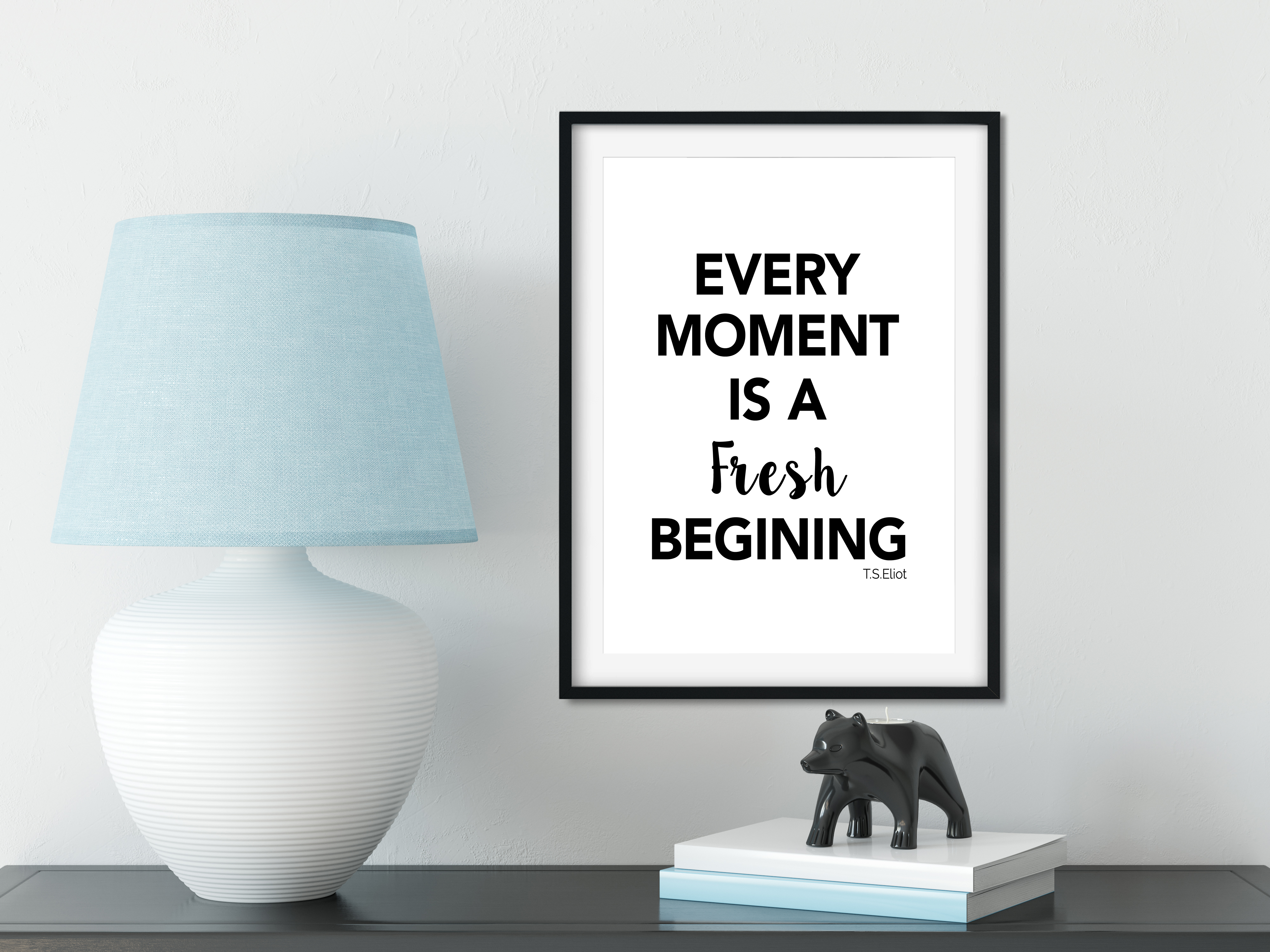 Positive Print Every Moment Is A Fresh Beginning Quotes A3 A4 Size Stylish Art