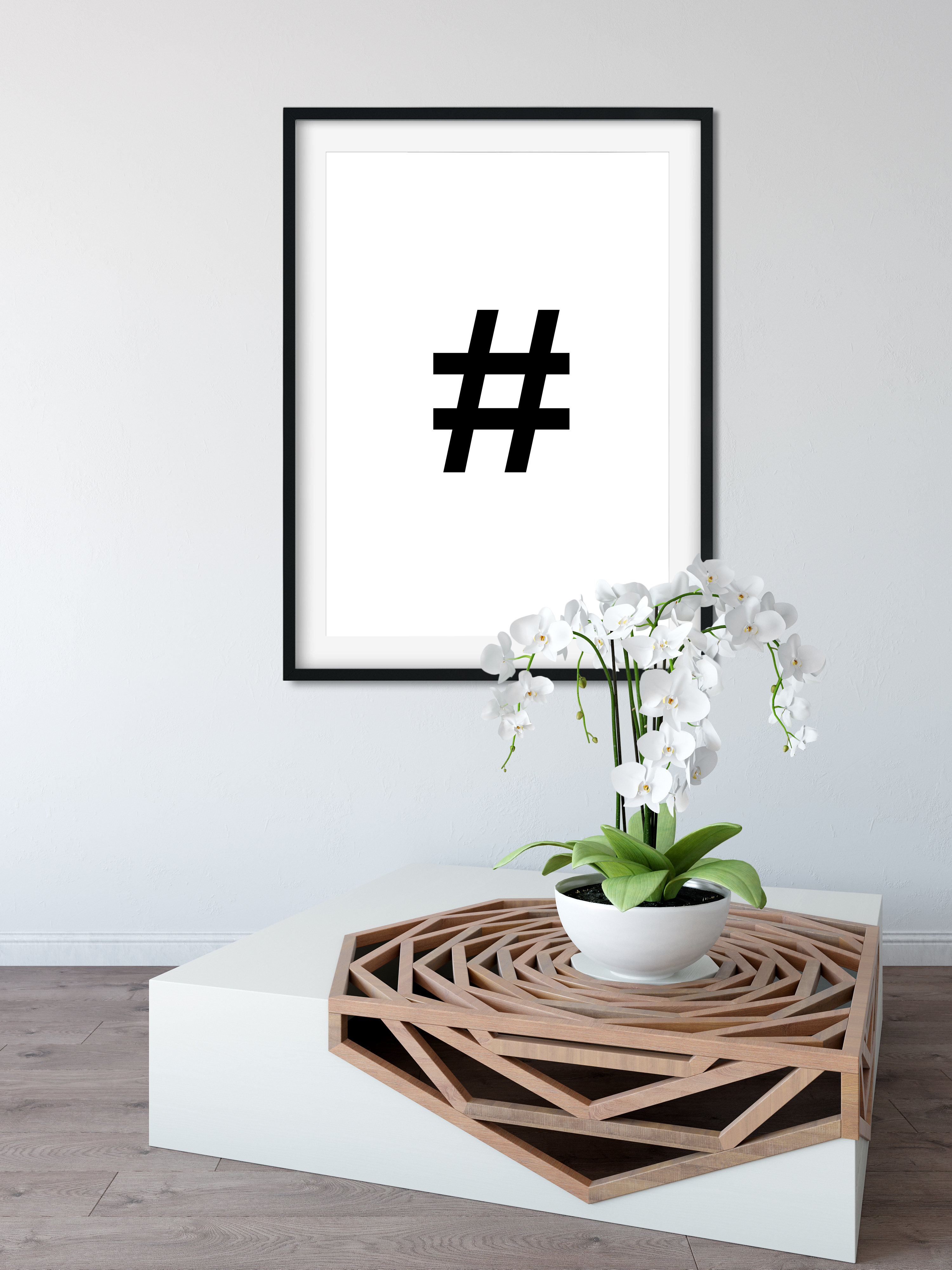 A4 Typography gift Poster Print Picture Wall Art #Hashtag