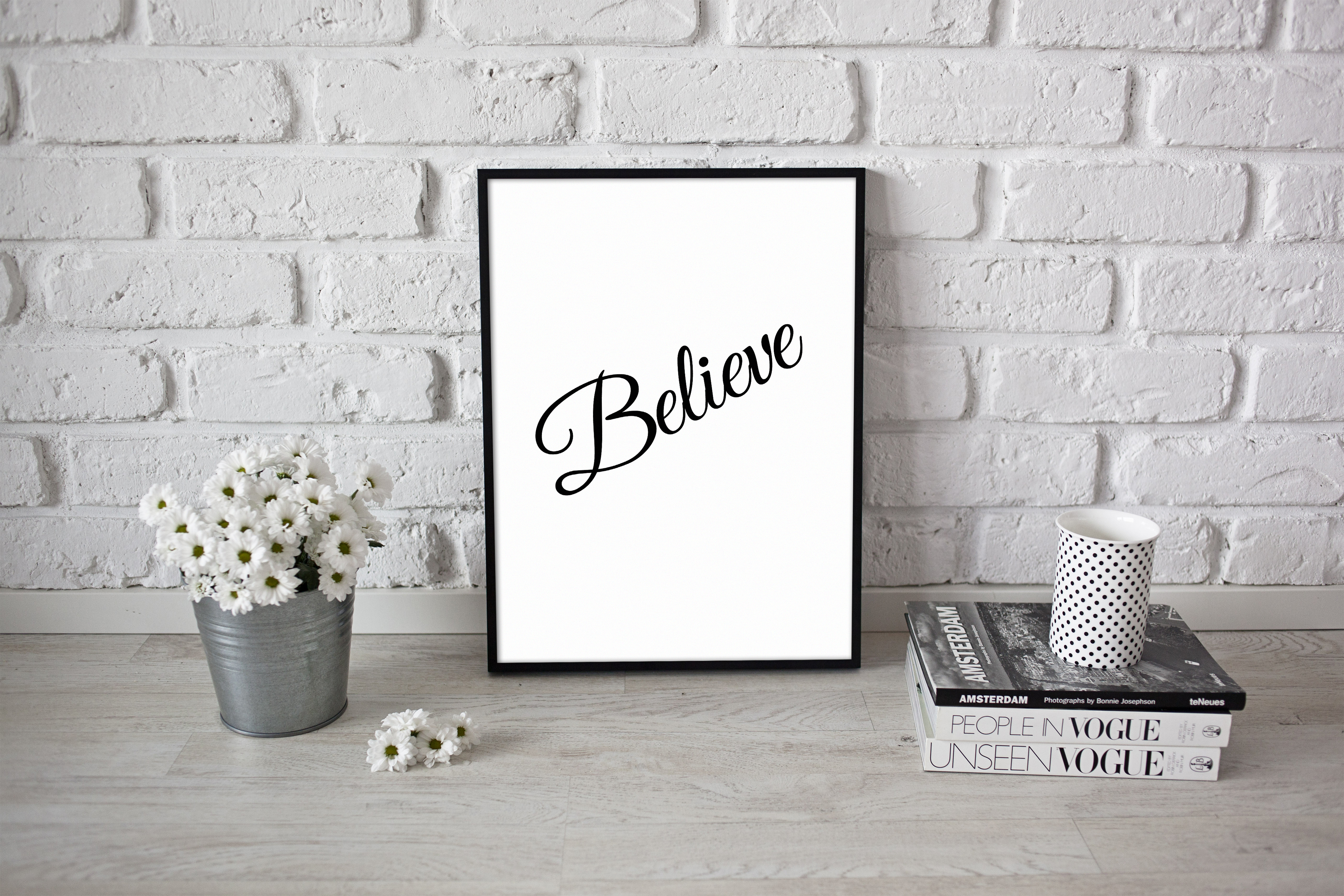 Peaceful Relax Poster Believe Quote A4 A3 Size Positive Wall Artwork ...